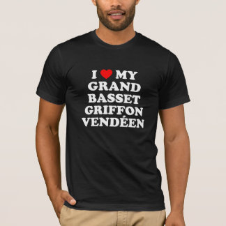 I Heart My Grand Basset Griffon Vendéen Dark Shirt