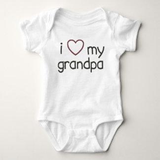 I Heart My Grandpa Baby Bodysuit