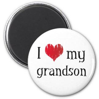 I heart my grandson refrigerator magnets