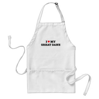 I Heart My Great Dane Apron