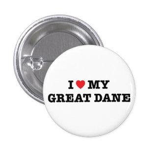 I Heart My Great Dane Button