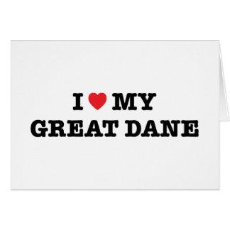 I Heart My Great Dane Greeting Card
