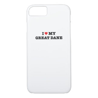 I Heart My Great Dane iPhone 7 Case