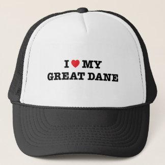 I Heart My Great Dane Trucker Hat
