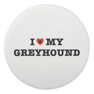 I Heart My Greyhound Eraser