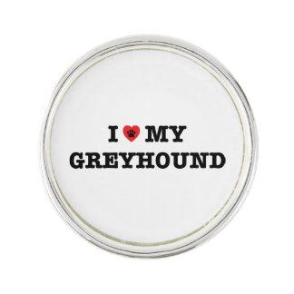 I Heart My Greyhound Lapel Pin