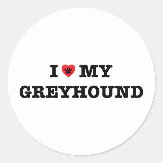 I Heart My Greyhound Sticker