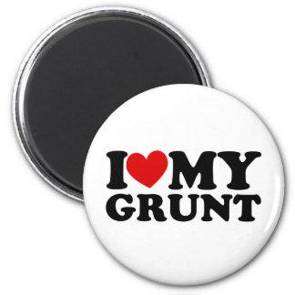 """I """"Heart"""" My Grunt 6 Cm Round Magnet"""