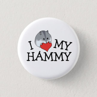 I Heart My Hammy Russian Campbell's Dwarf 3 Cm Round Badge