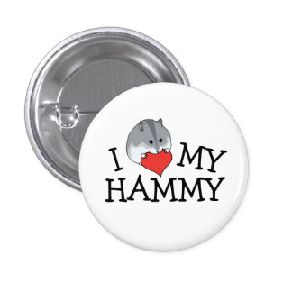 I Heart My Hammy Russian Campbell's Dwarf 3 Cm Round Badge