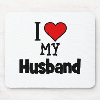 I Heart my Husband Mousepads