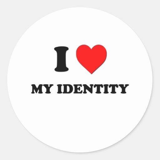 I Heart My Identity Stickers