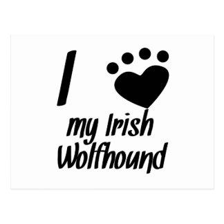I Heart My Irish Wolfhound Postcard