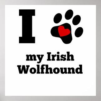 I Heart My Irish Wolfhound Poster