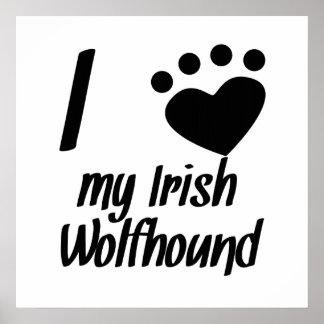 I Heart My Irish Wolfhound Posters