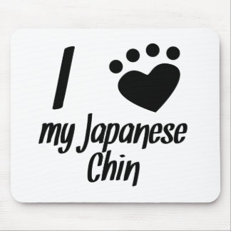 I Heart My Japanese Chin Mousepads