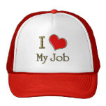 I Heart My Job Mesh Hats