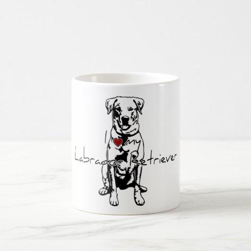 """I """"heart"""" my Labrador Retriever words with graphic Coffee Mug"""