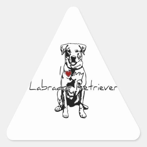 """I """"heart"""" my Labrador Retriever words with graphic Sticker"""