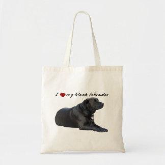 """I """"heart"""" my Labrador Retriever"""" words with photo Tote Bag"""
