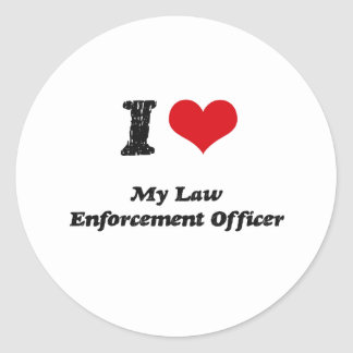I heart My Law Enforcement Officer Stickers