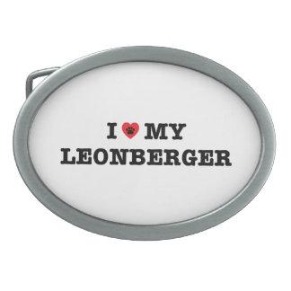 I Heart My Leonberger Belt Buckle