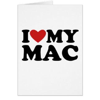 I heart my mac greeting card