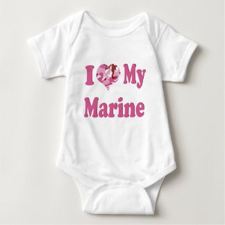 I Heart My Marine Baby Bodysuit