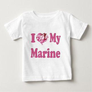 I Heart My Marine Baby T-Shirt