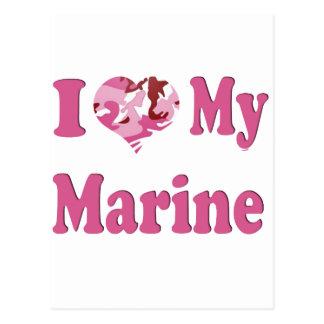 I Heart My Marine Postcard