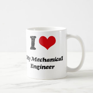 I heart My Mechanical Engineer Classic White Coffee Mug