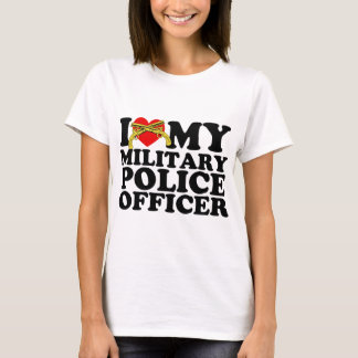 "I ""Heart"" My Military Police Officer T-Shirt"
