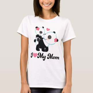 I Heart My Mom Panda T-Shirt