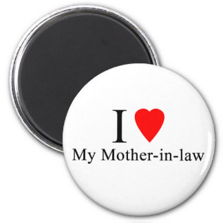 I Heart my mother in law 6 Cm Round Magnet
