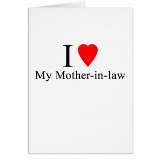 I Heart my mother in law Greeting Card