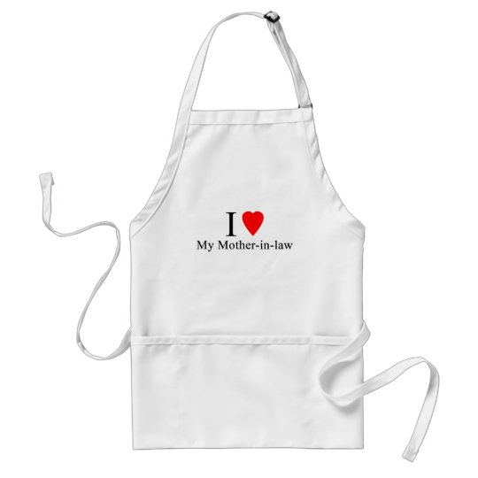 I Heart my mother in law Standard Apron
