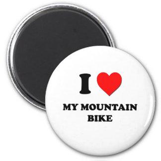 I Heart My Mountain Bike Refrigerator Magnets