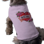I heart my mum tattoo dog tshirt