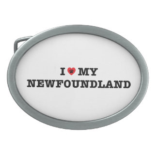 I Heart My Newfoundland Belt Buckle