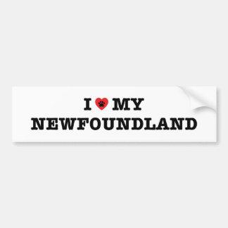 I Heart My Newfoundland Bumper Sticker