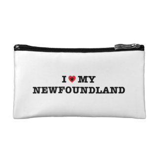 I Heart My Newfoundland Cosmetic Bag
