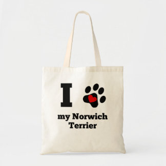 I Heart My Norwich Terrier Budget Tote Bag