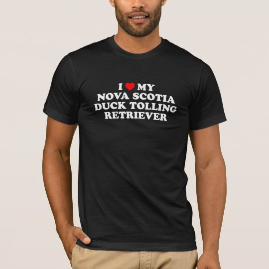 I Heart My Nova Scotia Duck Tolling Retriever Dark T-Shirt