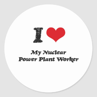 I heart My Nuclear Power Plant Worker Sticker