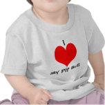 I *heart* my Pit Bull Baby T-shirt