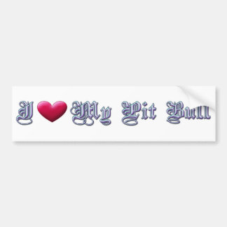 I Heart My Pit Bull Bumpersticker Car Bumper Sticker