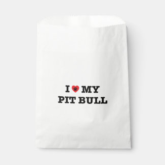 I Heart My Pit Bull Favor Bag Favour Bags