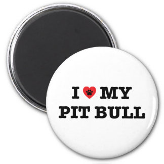 I Heart My Pit Bull Fridge Magnet