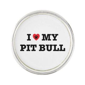 I Heart My Pit Bull Lapel Pin