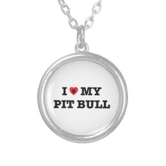 I Heart My Pit Bull Necklace